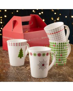 Winter Wonderland Set of 4 Mugs