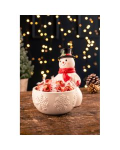 Jolly Snowman Candy Dish