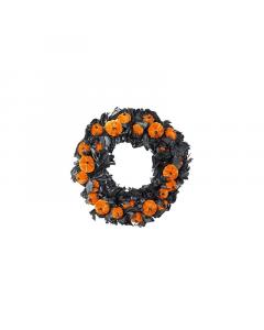 Halloween Black and Orange Wreath