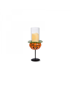 Halloween Pumpkin Candle on Stand