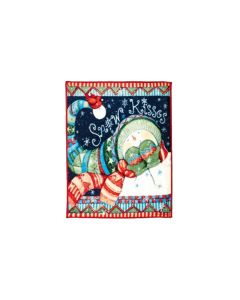 Snow Kisses Fleece Throw 1.6M x 1.3M
