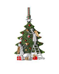 Christmas - Angels and Tree Hanging Decoration By Newbridge Silverware