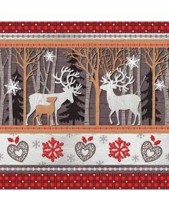 Napkin 33cm - Woodland Reindeers