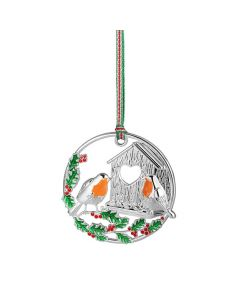 Christmas - Robin Hanging Decoration By Newbridge Silverware